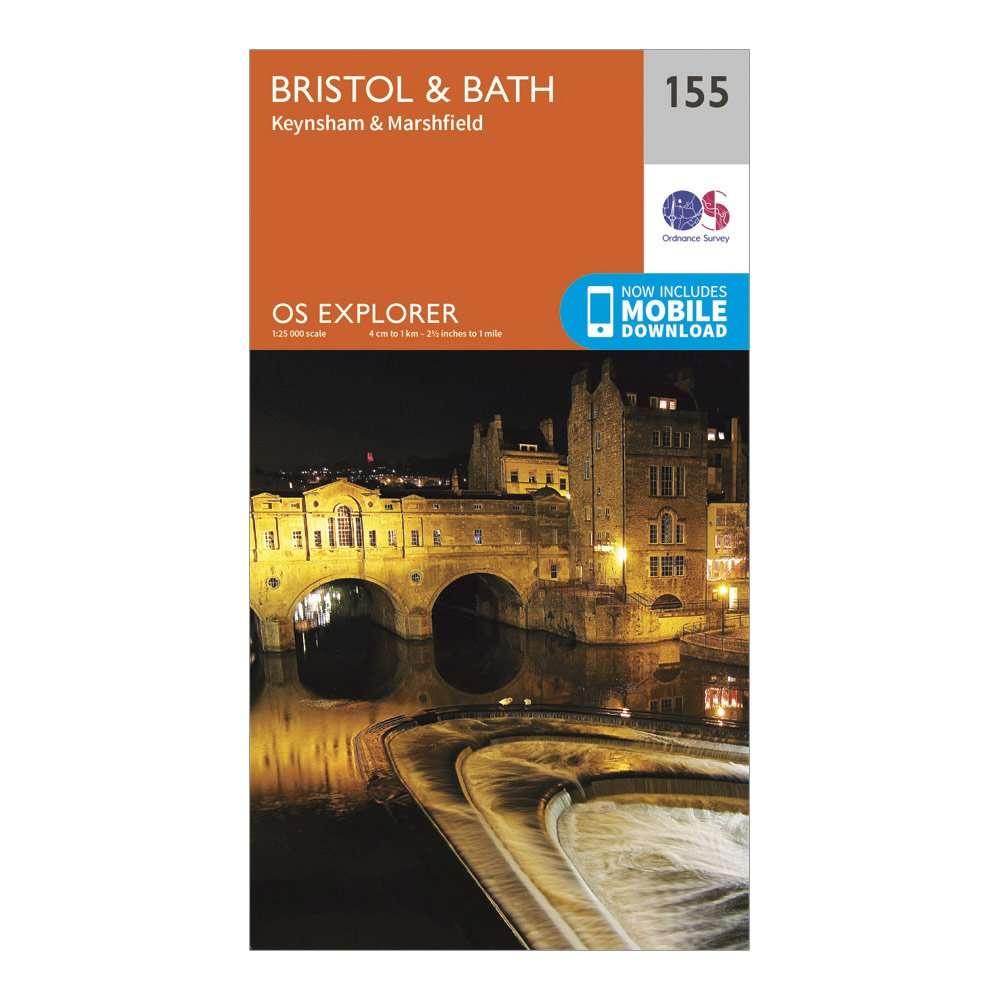 ORDNANCE SURVEY Explorer 155 Bristol & Bath Map With Digital Version