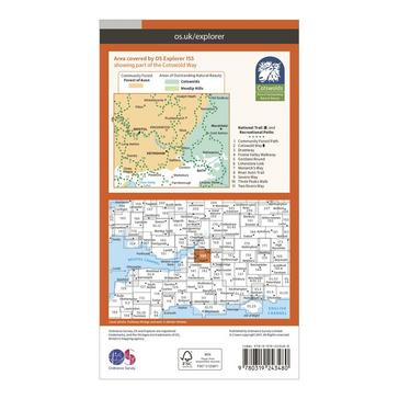 Orange Ordnance Survey Explorer 155 Bristol & Bath Map With Digital Version