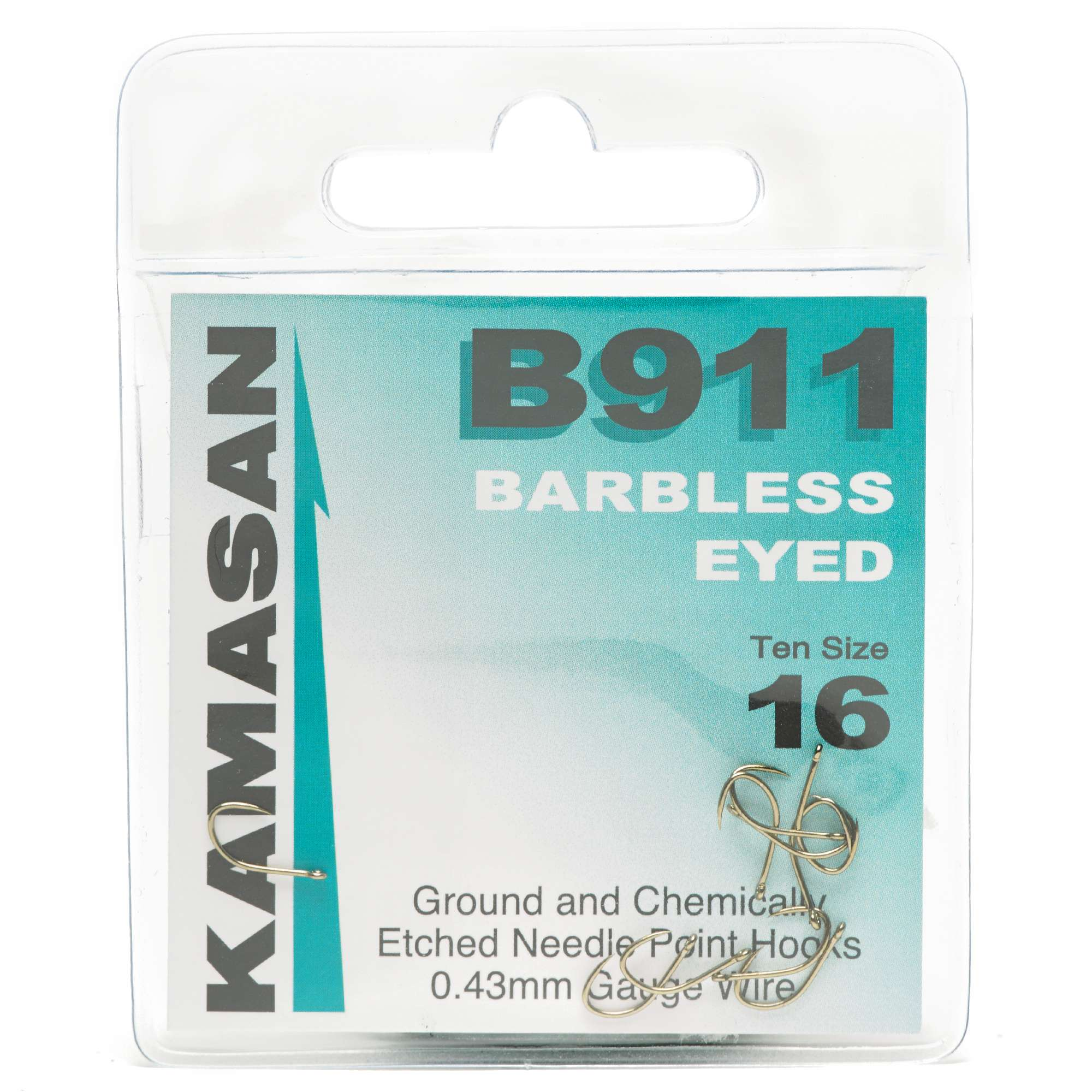 KAMASAN B981 Eyed Barbless Hooks - Size 16