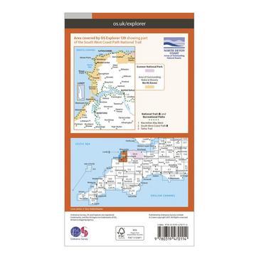 Orange Ordnance Survey Explorer Active 139 Bideford, Ilfracombe & Barnstaple Map With Digital Version