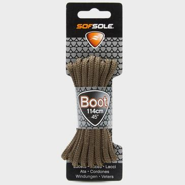 Brown Sof Sole Wax Boot Laces - 114cm