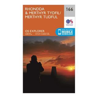 Explorer 166 Rhondda & Merthyr Tydfil Map With Digital Version
