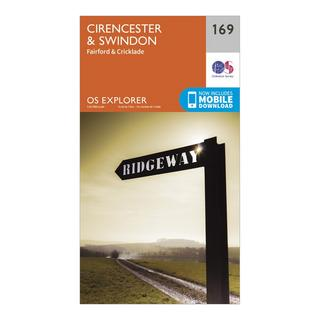 Explorer 169 Cirencester & Swindon Map With Digital Version