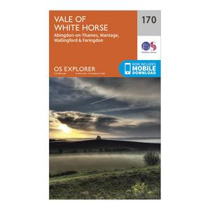 ORDNANCE SURVEY Explorer 170 Abingdon, Wantage & Vale of White Horse Map With Digital Version