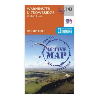Explorer Active 143 Warminster & Trowbridge Map With Digital Version