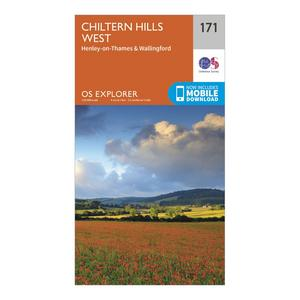 ORDNANCE SURVEY Explorer 171 Chiltern Hills West, Henley-on-Thames & Wallingford Map With Digital Version