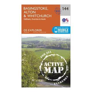 Explorer Active 144 Basingstoke, Alton & Whitchurch Map With Digital Version