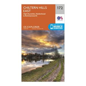 ORDNANCE SURVEY Explorer 172 Chiltern Hills East Map With Digital Version