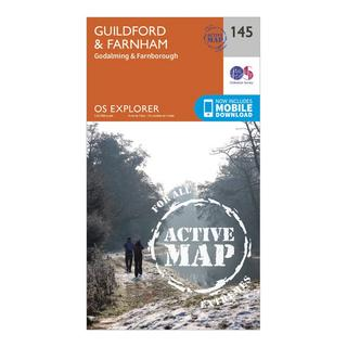 Explorer Active 145 Guildford & Farnham Map With Digital Version
