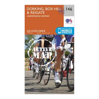 Explorer Active 146 Dorking, Box Hill & Reigate Map With Digital Version