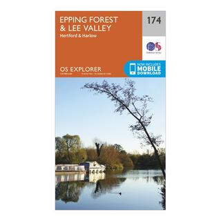 Explorer 174 Epping Forest & Lee Valley Map With Digital Version