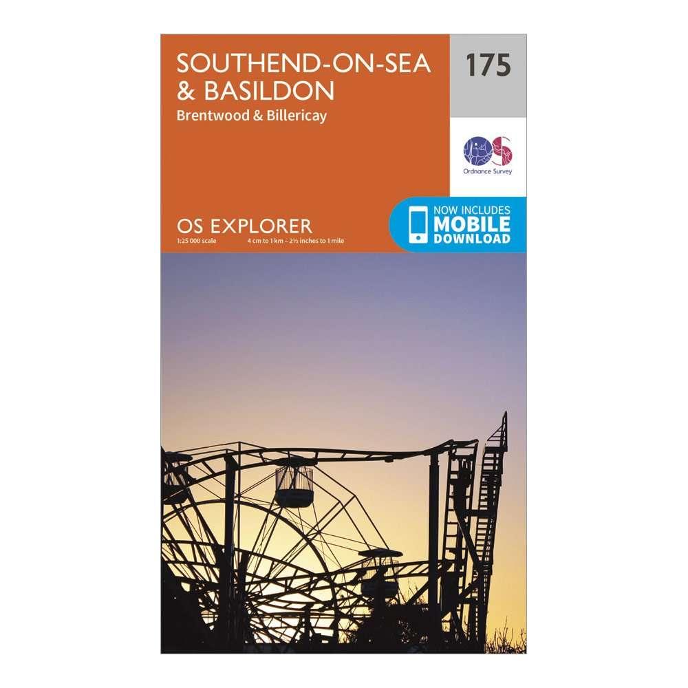 ORDNANCE SURVEY Explorer 175 Southend-on-Sea & Basildon Map With Digital Version