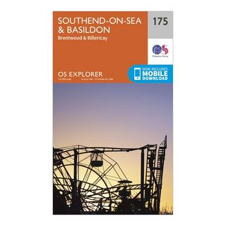 Explorer 175 Southend-on-Sea & Basildon Map With Digital Version