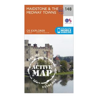 Explorer Active 148 Maidstone & The Medway Towns Map With Digital Version