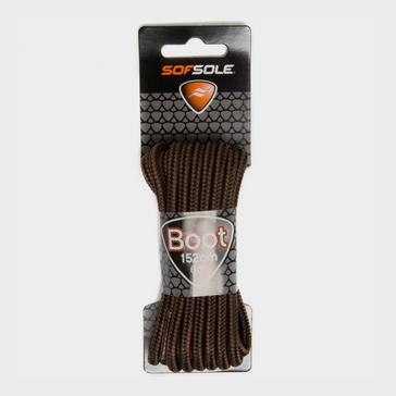 Brown Sof Sole Wax Boot Laces - 152cm