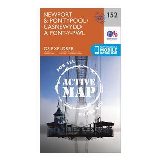 Explorer Active 152 Newport & Pontypool Map With Digital Version