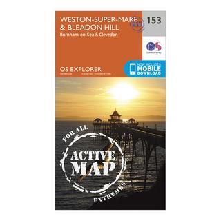Explorer Active 153 Weston-Super-Mare & Bleadon Hill Map With Digital Version