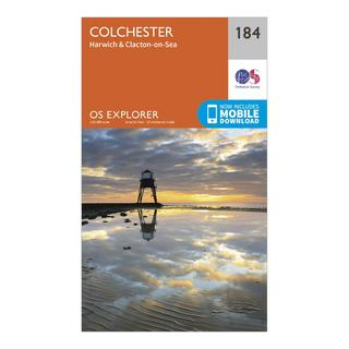 Explorer 184 Colchester, Harwich & Clacton-on-Sea Map With Digital Version