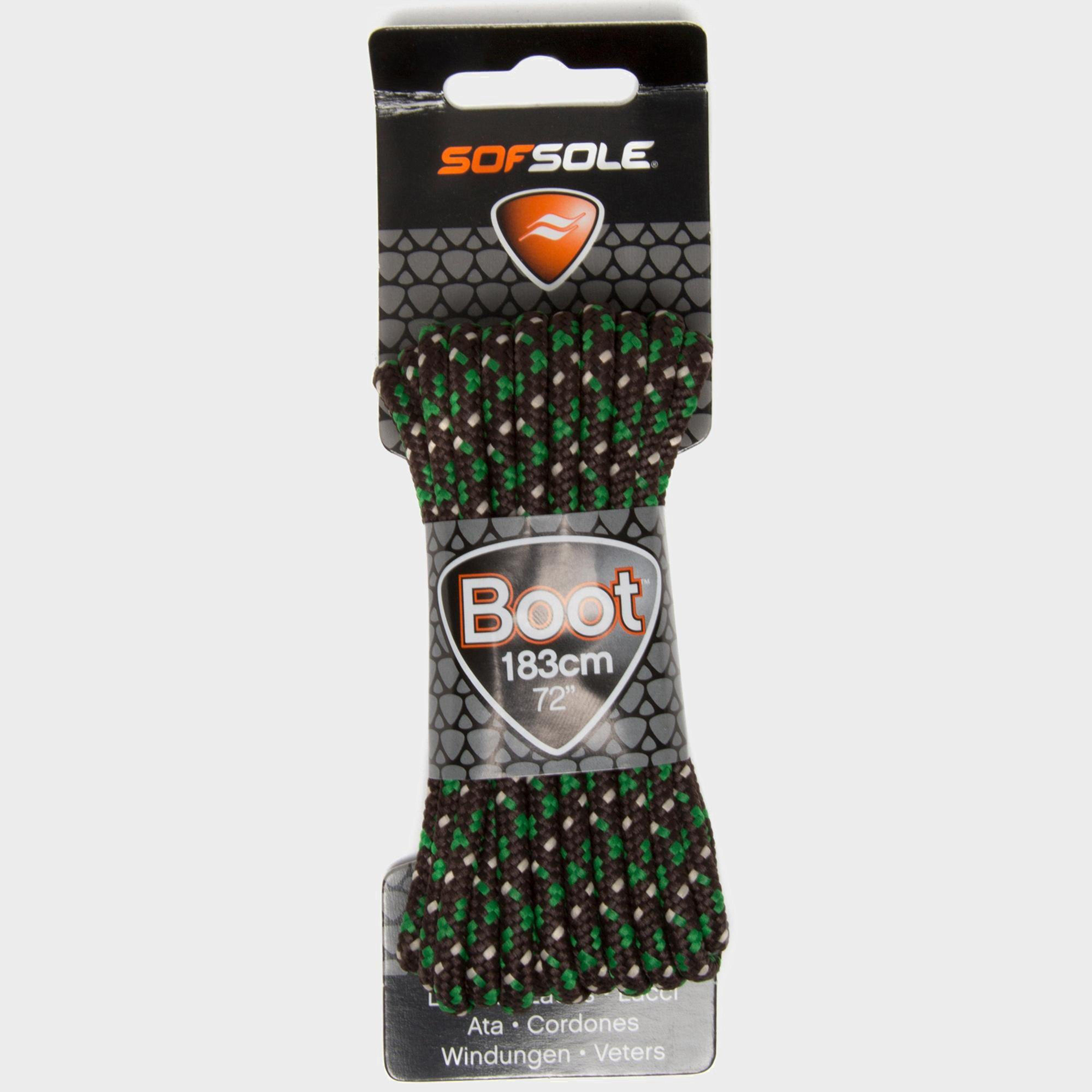 Sof Sole Sof Sole Military Boot Laces - 183cm - Green, Green
