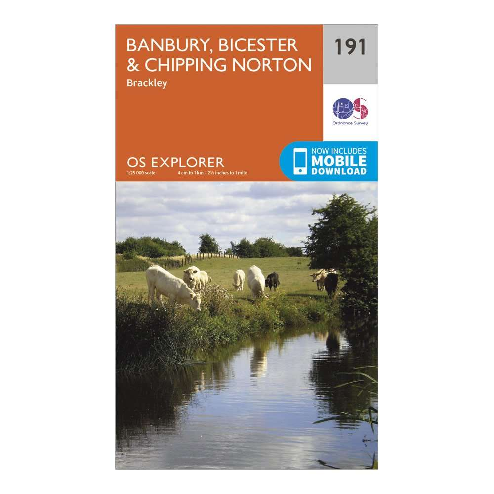 ORDNANCE SURVEY Explorer 191 Banbury, Bicester & Chipping Norton Map With Digital Version