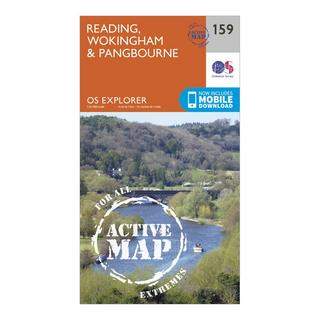 Explorer Active 159 Reading, Wokingshire & Pangbourne Map With Digital Version