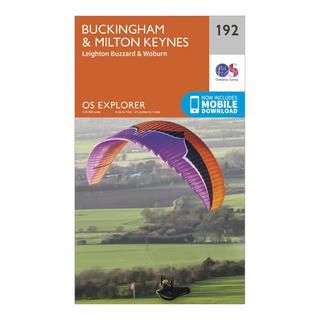 Explorer 192 Buckingham & Milton Keynes Map With Digital Version