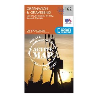 Explorer Active 162 Greenwich & Gravesend Map With Digital Version