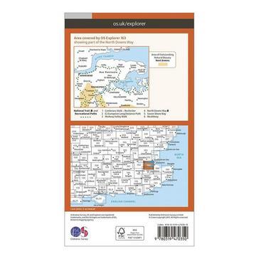 Orange Ordnance Survey Explorer Active 163 Gravesend & Rochester Map With Digital Version