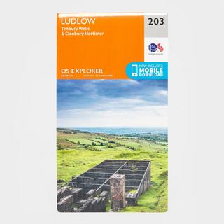 Explorer 203 Ludlow, Tenbury Wells & Cleobury Mortimer Map With Digital Version