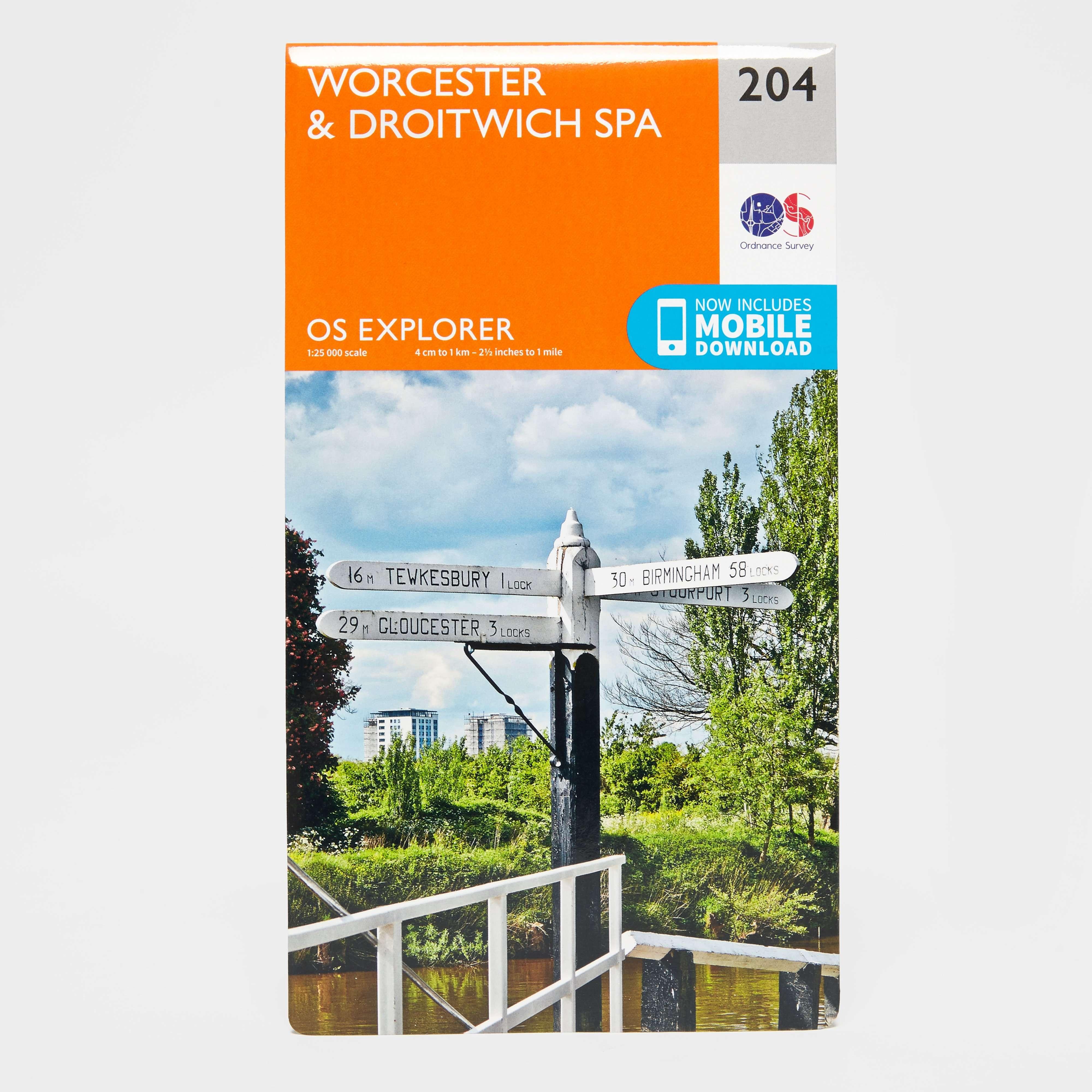ORDNANCE SURVEY Explorer 204 Worcester & Droitwich Spa Map With Digital Version