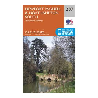 Explorer 207 Newport Pagnell & Northampton South Map With Digital Version