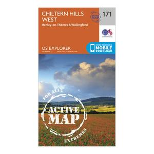 ORDNANCE SURVEY Explorer Active 171 Chiltern Hills West, Henley-on-Thames & Wallingford Map With Digital Version