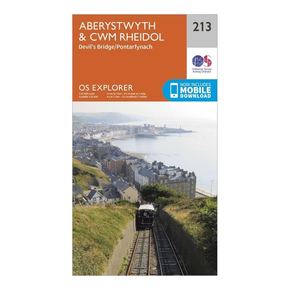 ORDNANCE SURVEY Explorer 213 Aberystwyth & Cwn Rheidol Map With Digital Version