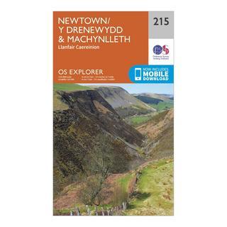 Explorer 215 Newton & Llanfair Caereinion Map With Digital Version