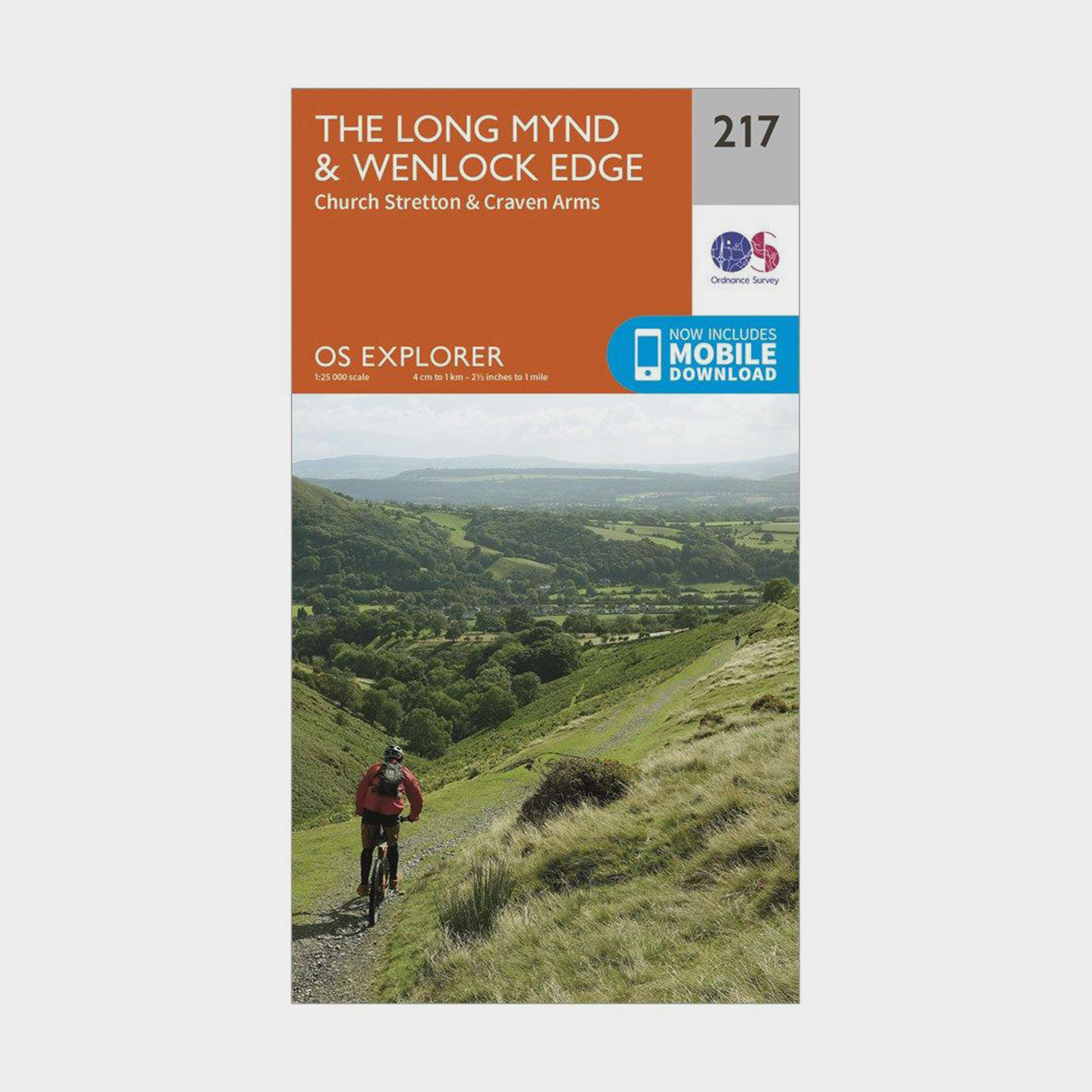 ORDNANCE SURVEY Explorer 217 The Long Mynd & Wenlock Edge Map With Digital Version