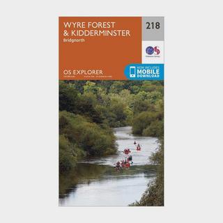 Explorer 218 Kidderminster & Wyre Forest Map With Digital Version
