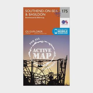 Explorer Active 175 Southend-on-Sea & Basildon Map With Digital Version