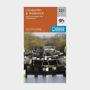ORDNANCE SURVEY Explorer 221 Coventry, Warwick, Royal Leamington Spa & Kenilworth Map With Digital Version