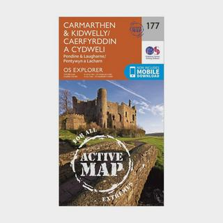 Explorer Active 177 Carmarthen & Kidwelly Map With Digital Version