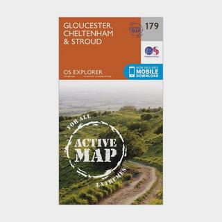 Explorer Active 179 Gloucester, Cheltenham & Stroud Map With Digital Version