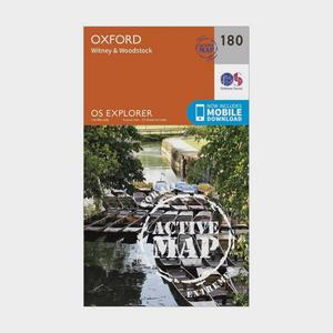 ORDNANCE SURVEY Explorer Active 180 Oxford, Witney & Woodstock Map With Digital Version