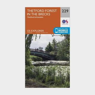 Explorer 229 Thetford Forest in the Brecks Map With Digital Version