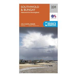 ORDNANCE SURVEY Explorer 231 Southwold & Bungay Map With Digital Version
