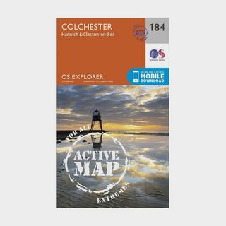 Explorer Active 184 Colchester, Harwick & Clacton-on-Sea Map With Digital Version