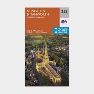 Explorer 232 Nuneaton & Tamworth Map With Digital Version