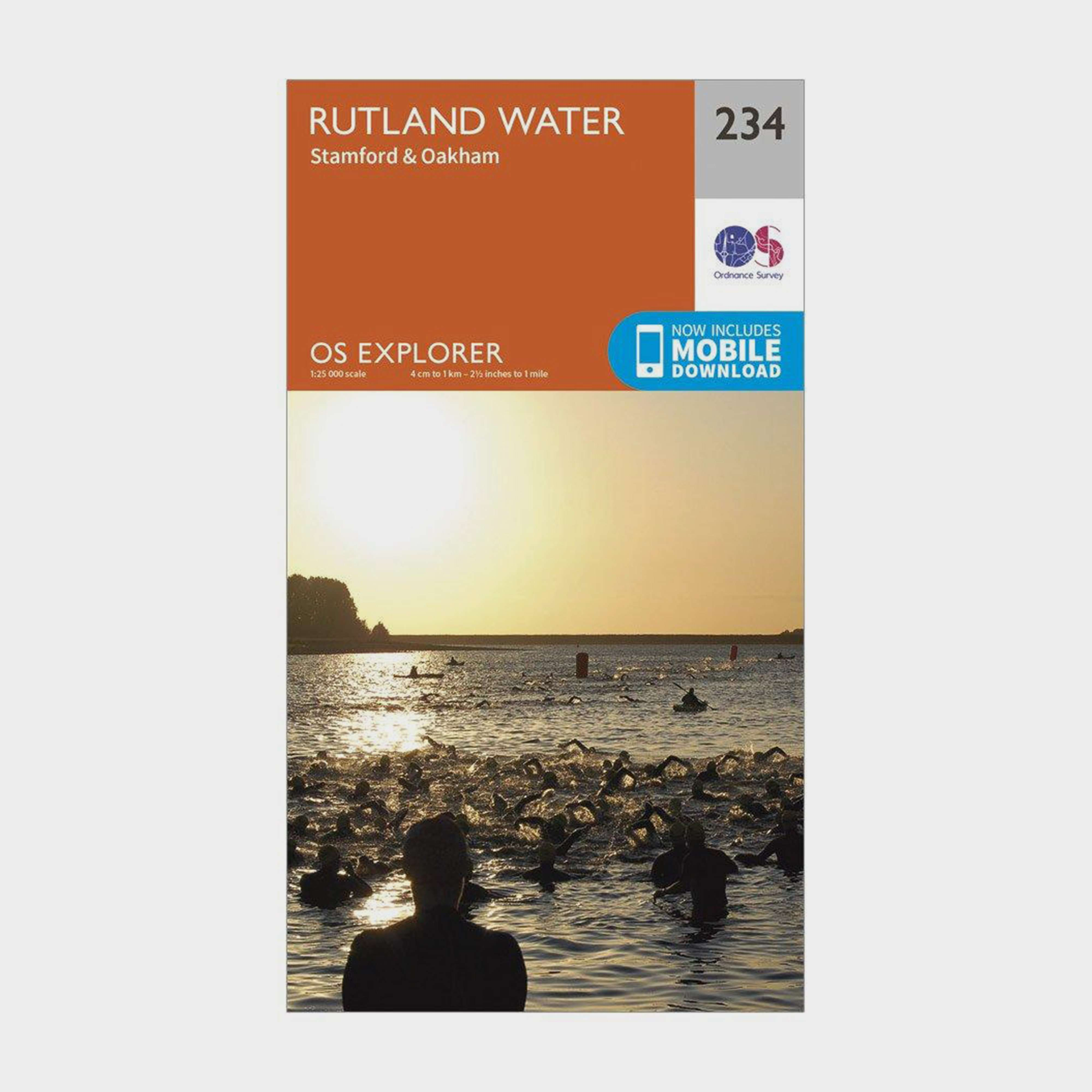 ORDNANCE SURVEY Explorer 234 Rutland Water Map With Digital Version