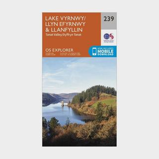 Explorer 239 Lake Vyrnwy & Llanfyllin Map With Digital Version