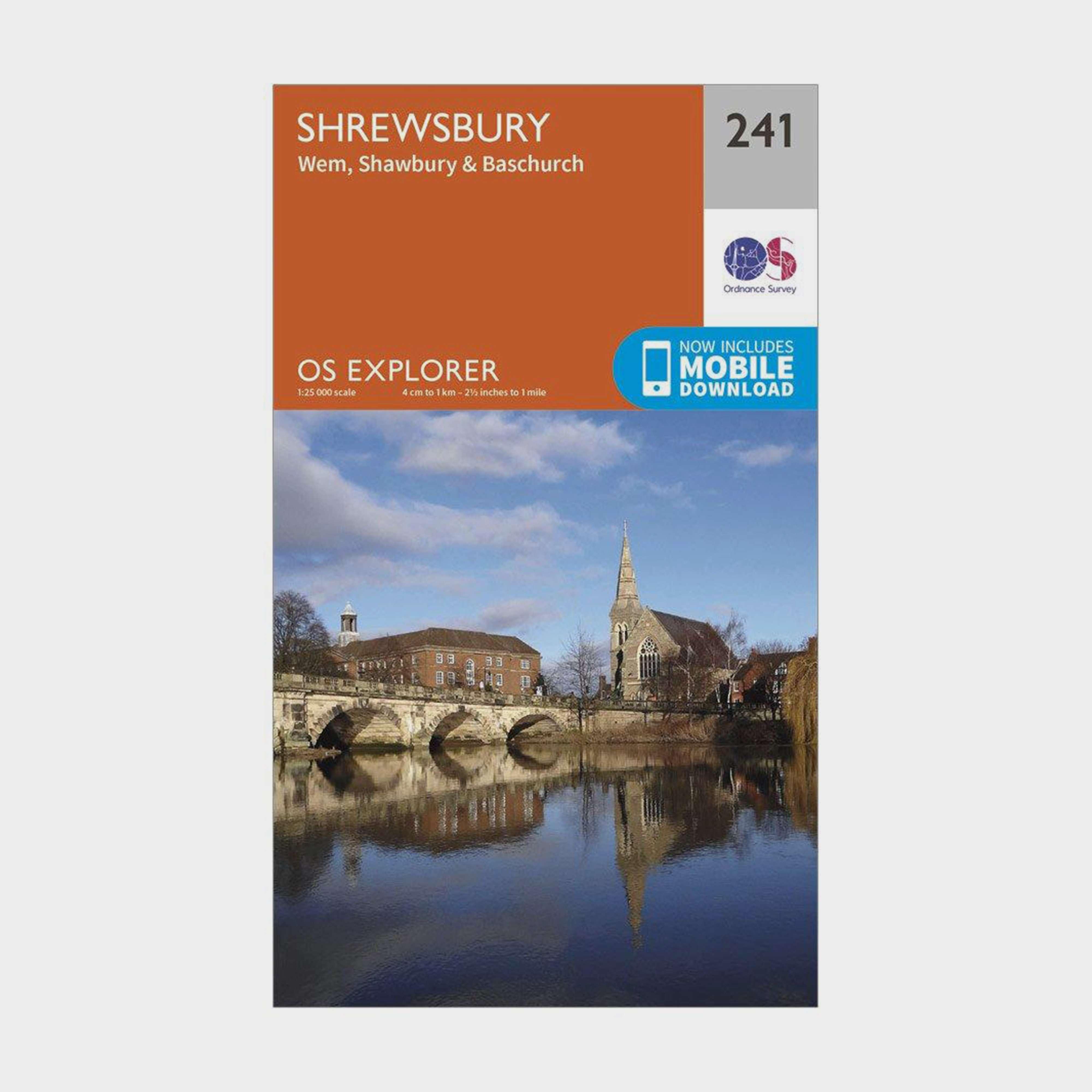 ORDNANCE SURVEY Explorer 241 Shrewsbury, Wem, Shawbury & Baschurch Map With Digital Version