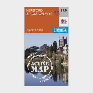 Explorer Active 189 Hereford & Ross-on-Wye Map With Digital Version