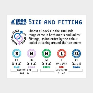 Black 1000 MILE Ultimate Lightweight Walking Socks